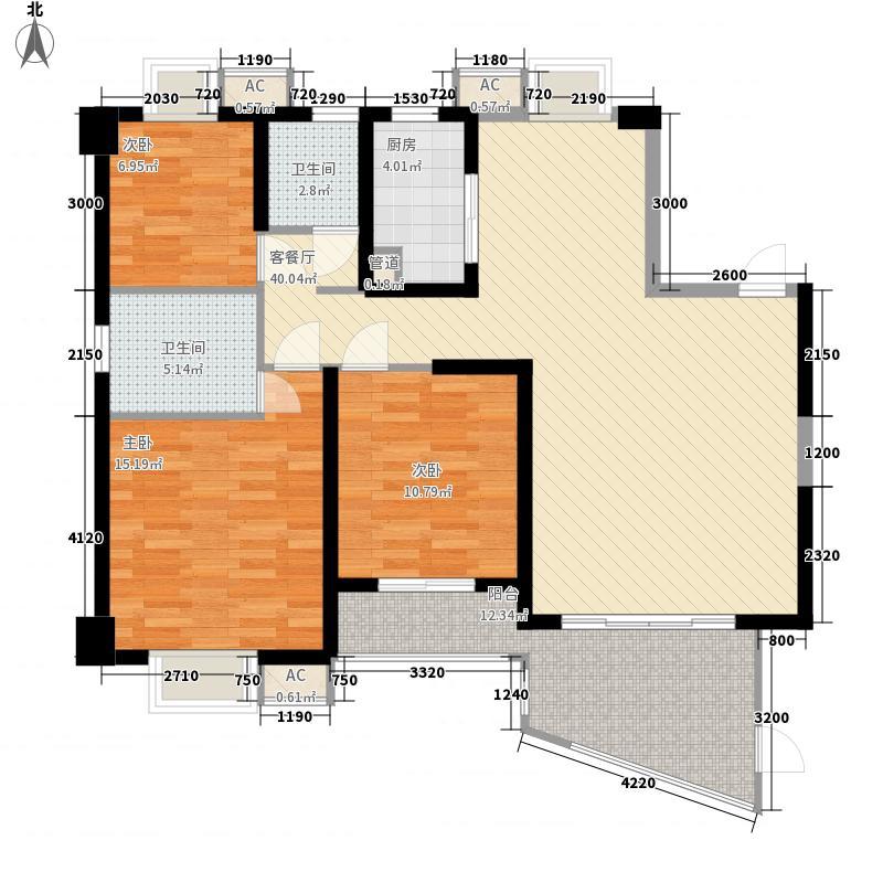 天湖城天源A地块3、4、5#楼标准层C2户型