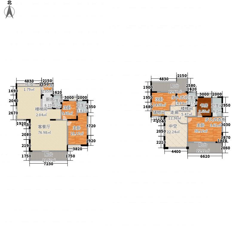 水湾六号281.73㎡1栋3003号复式户型5室2厅4卫