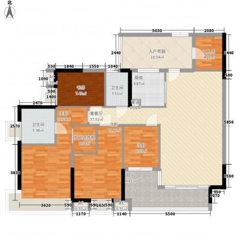 中海锦榕湾4室1厅2卫1厨175.00㎡户型图