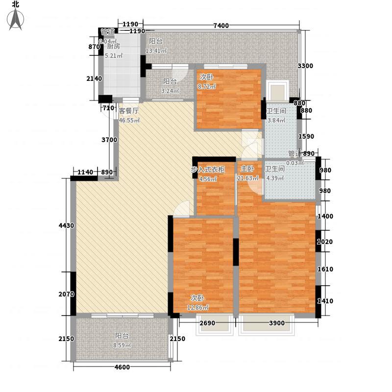 沂龙湾御园153.00㎡S2户型3室2厅2卫1厨