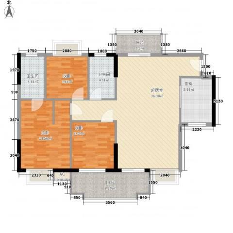 一江名城3室0厅2卫1厨94.54㎡户型图