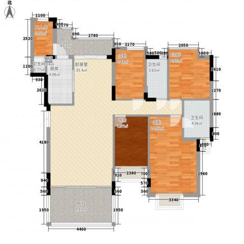 海怡东方花园4室0厅3卫1厨147.00㎡户型图
