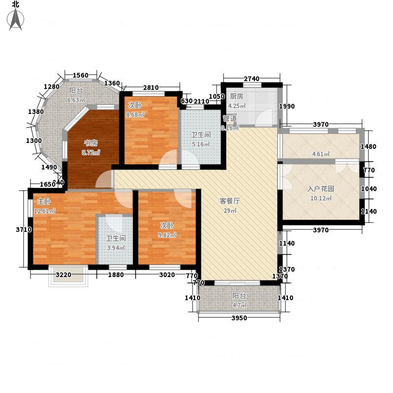 南博湾花园156.14㎡C户型4室2厅2卫1厨