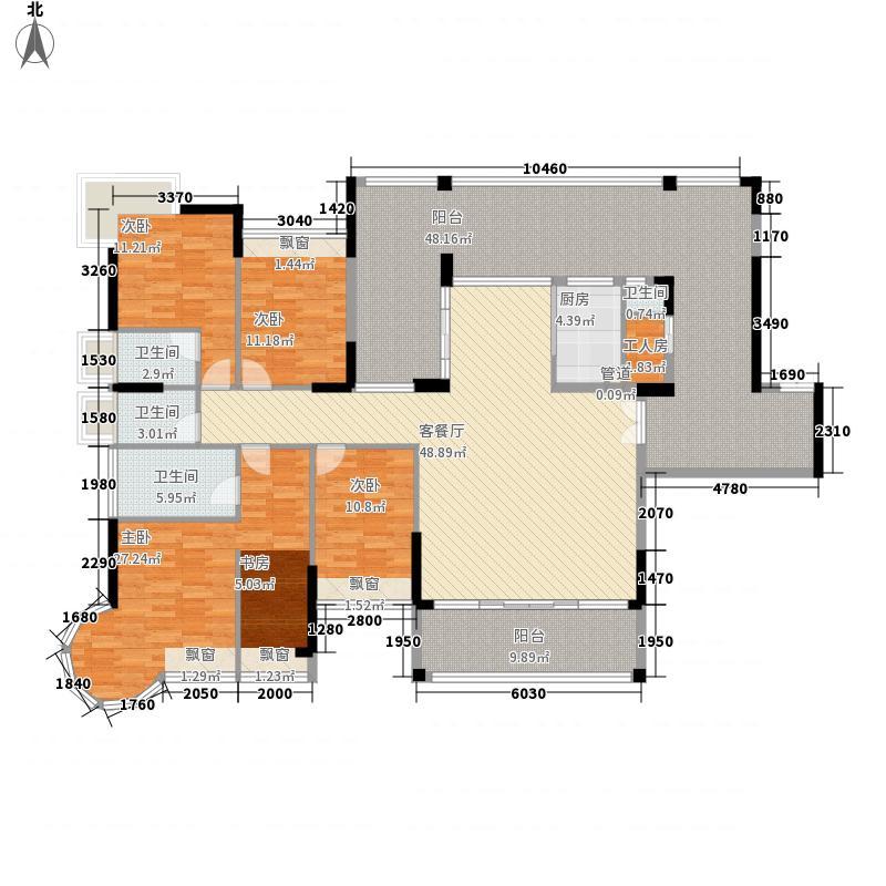 集信名城261.00㎡集信名城户型图12、18栋奇数层A4室2厅3卫户型4室2厅3卫