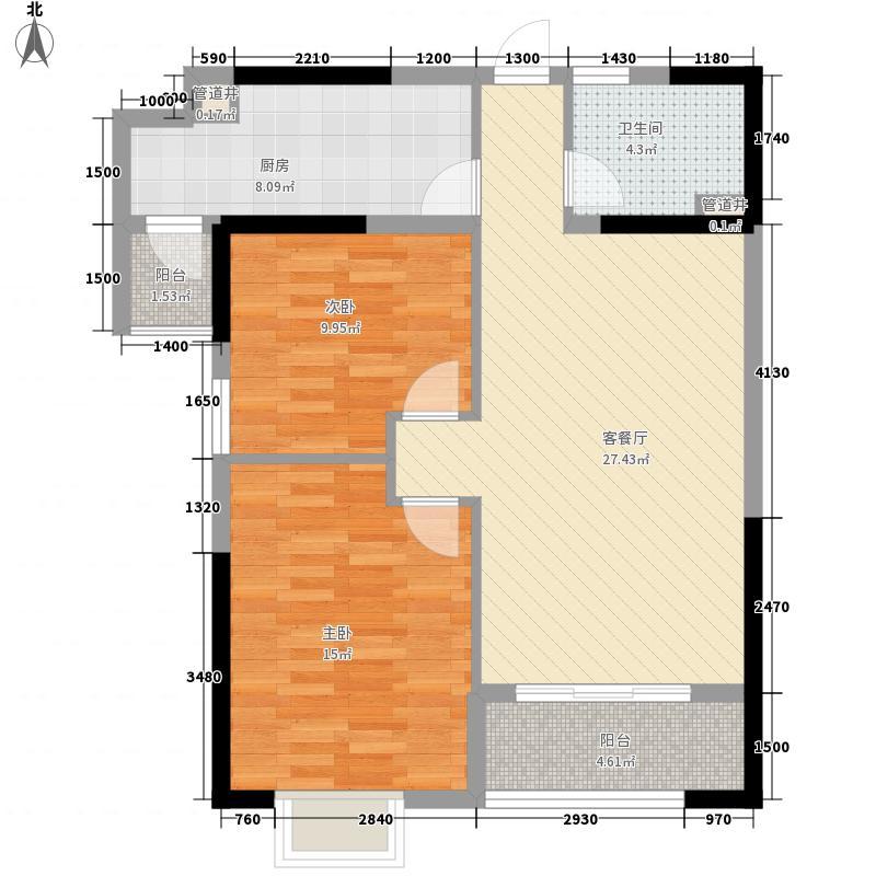 �景湾书香阁95.00㎡�景湾书香阁户型图A4户型2室2厅1卫1厨户型2室2厅1卫1厨