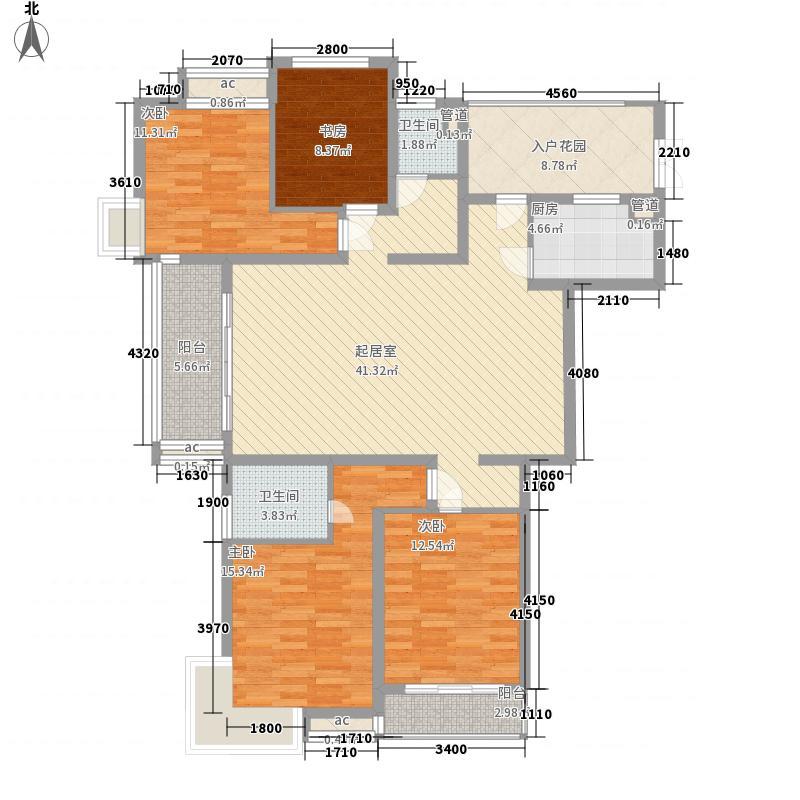 绿地海顿公馆172.18㎡绿地海顿公馆户型图F1标准层4室2厅2卫1厨户型4室2厅2卫1厨