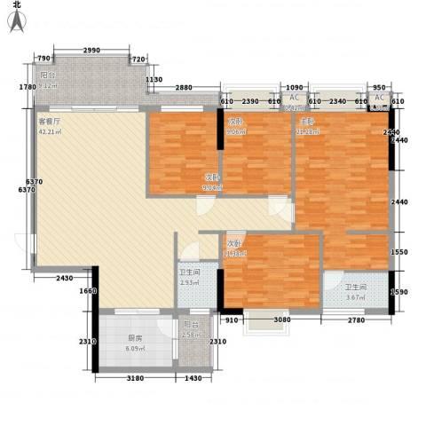 一江名城4室1厅2卫1厨147.00㎡户型图