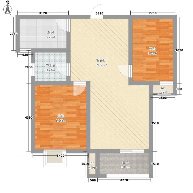花香畔82.60㎡花香畔户型图C户型2室2厅1卫1厨户型2室2厅1卫1厨