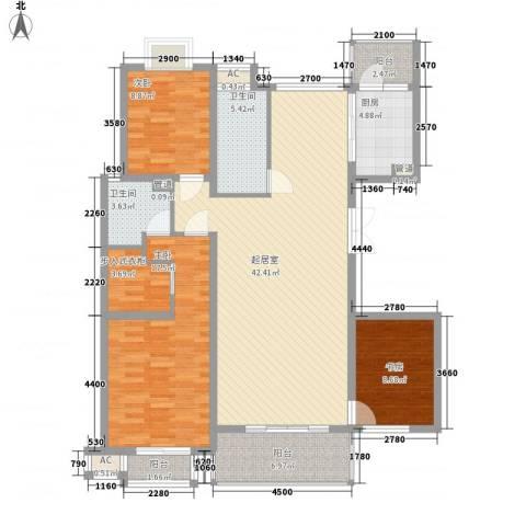 丽景琴园3室0厅2卫1厨154.00㎡户型图