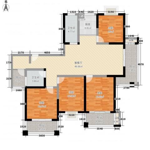 君御豪庭4室1厅2卫1厨178.00㎡户型图