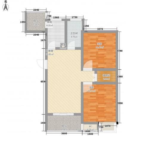 天诚金白领公寓2室0厅1卫1厨97.00㎡户型图