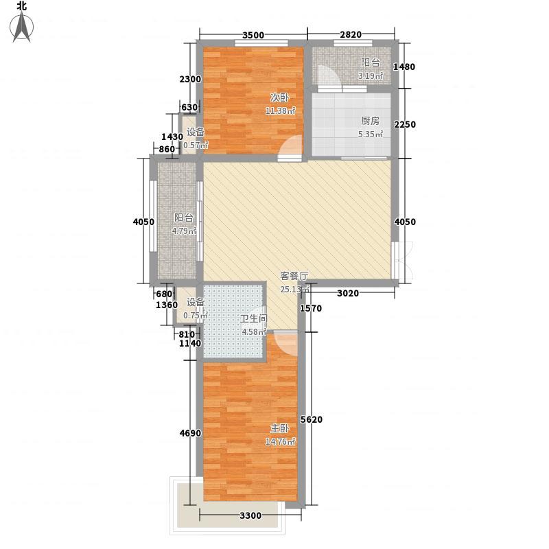 盛高国际望江花园项目58.67㎡盛高国际望江花园项目户型图D2户型2室1厅1卫1厨户型2室1厅1卫1厨
