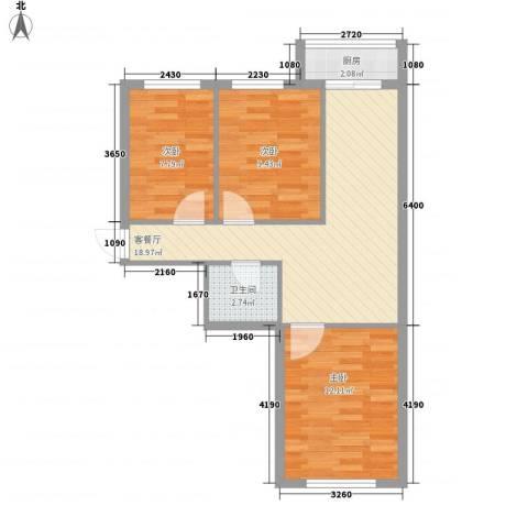 丰和日丽3室1厅1卫1厨94.00㎡户型图