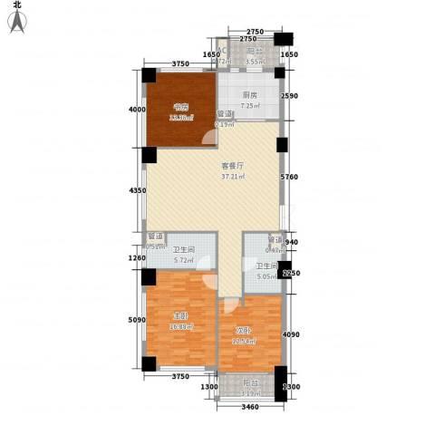 绿城皇冠花园3室1厅2卫1厨151.00㎡户型图