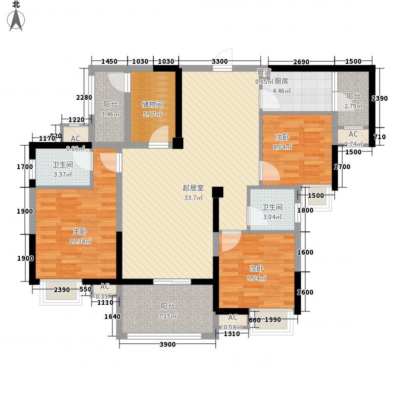 北大资源博雅二期高层5号楼标准层A1户型