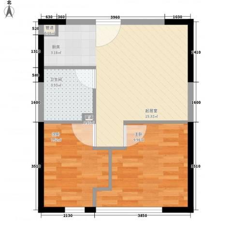 盛德商务大厦2室0厅1卫0厨56.00㎡户型图