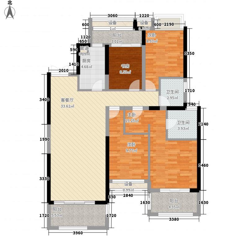 世茂摩天城148.00㎡世茂摩天城户型图一期高层住宅户型4室2厅2卫1厨户型4室2厅2卫1厨