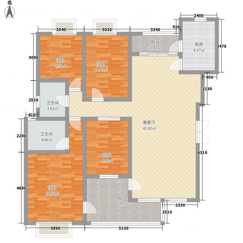 花溪御院152.79㎡花溪御院户型图G户型4室2厅2卫1厨户型4室2厅2卫1厨
