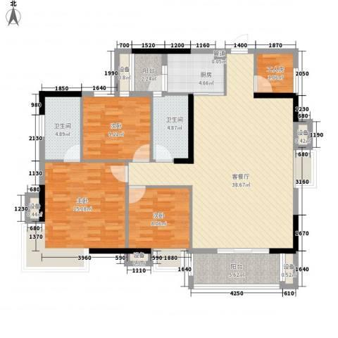 正康花园3室1厅2卫1厨146.00㎡户型图