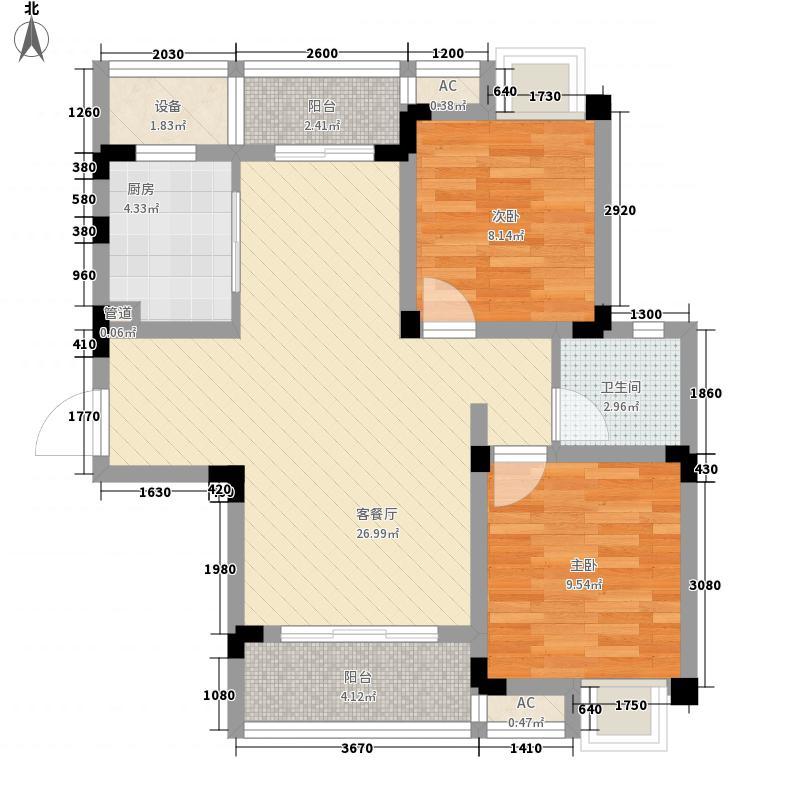 无锡滨湖万达广场91.00㎡无锡滨湖万达广场户型图D区住宅F7户型2室2厅1卫户型2室2厅1卫