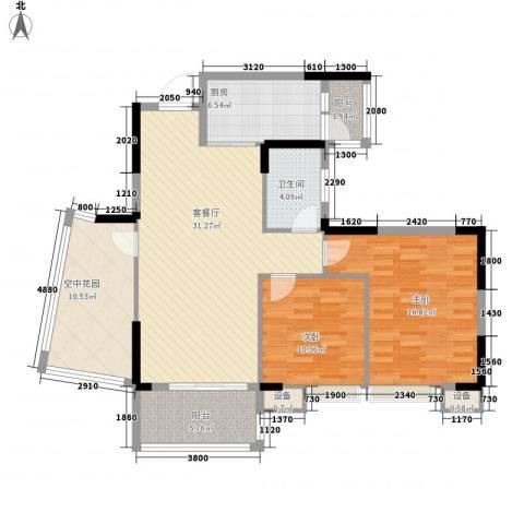 康怡丽苑2室1厅1卫1厨151.00㎡户型图