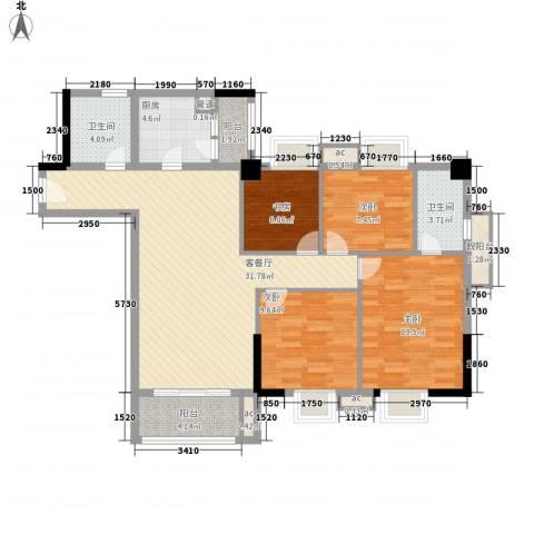 翔韵雅荟4室1厅2卫1厨130.00㎡户型图