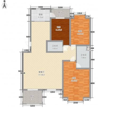 金玉良园3室1厅2卫1厨187.00㎡户型图