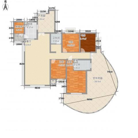 湘江豪庭4室1厅2卫1厨266.00㎡户型图