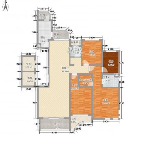 文峰城市广场4室1厅2卫1厨192.00㎡户型图
