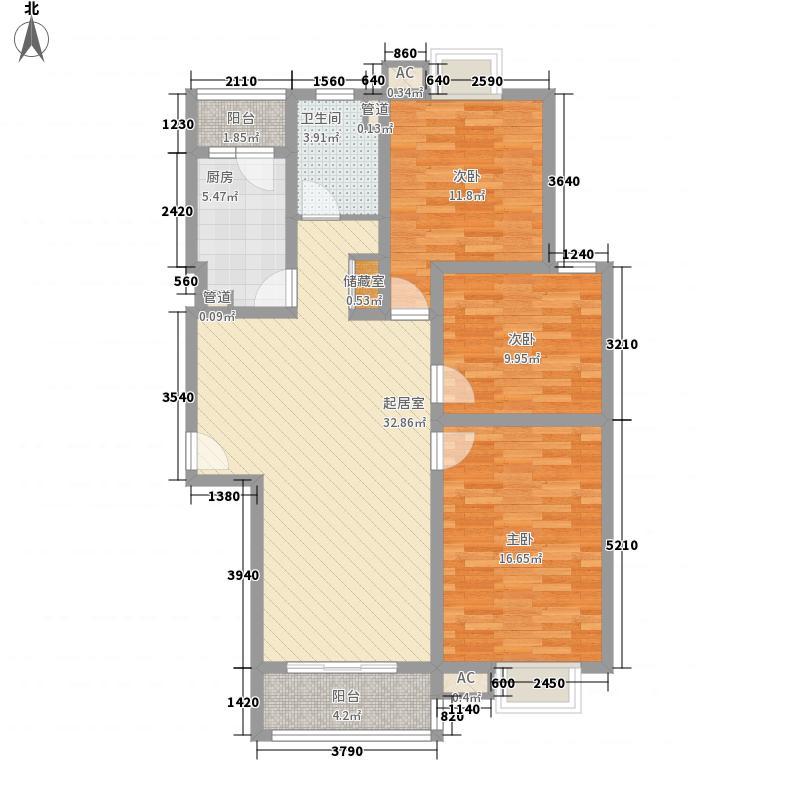 紫兰苑二期U品126.43㎡紫兰苑二期U品户型图10号楼3室2厅2卫1厨户型3室2厅2卫1厨