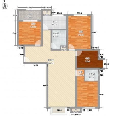 青川嘉园4室1厅2卫1厨145.00㎡户型图