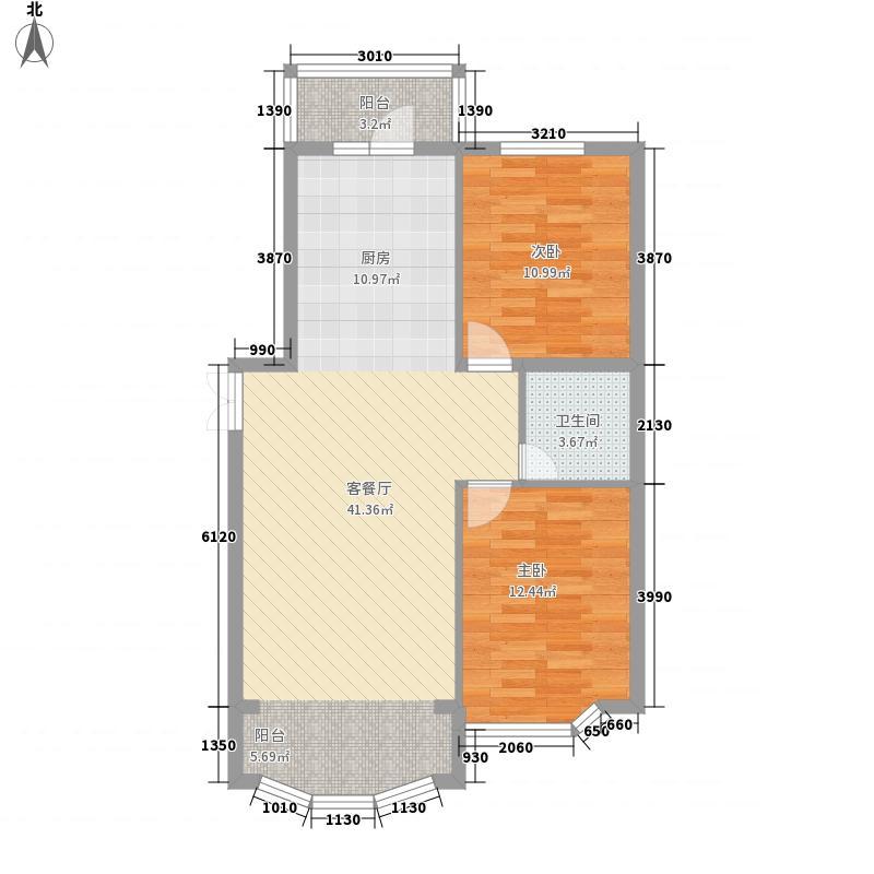 金泰湖滨绿茵77.75㎡金泰湖滨绿茵户型图D户型2室2厅1卫1厨户型2室2厅1卫1厨