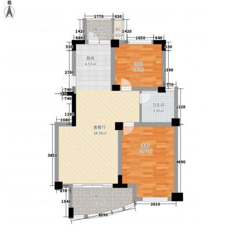 山姆城市广场2室1厅1卫0厨90.00㎡户型图