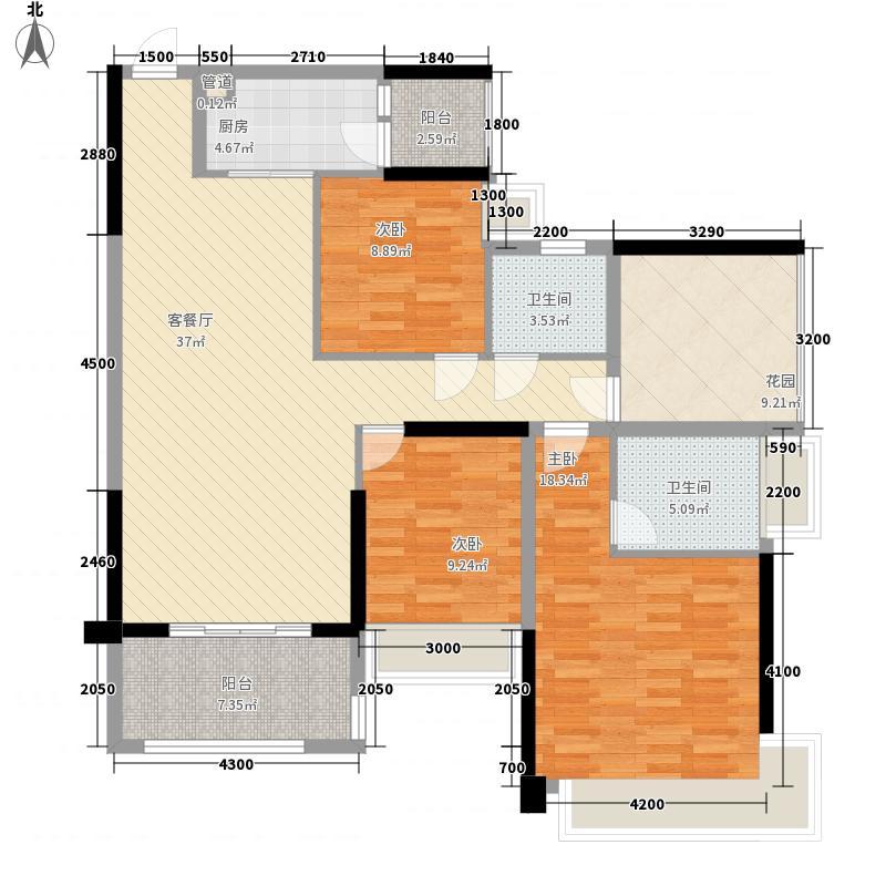佳兆业中央豪门123.00㎡10栋标准层05、06户型3室2厅2卫1厨