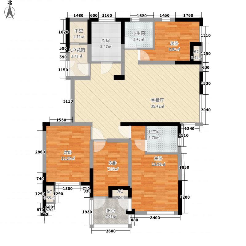 百协大溪地143.31㎡百协大溪地户型图B74室2厅2卫1厨户型4室2厅2卫1厨