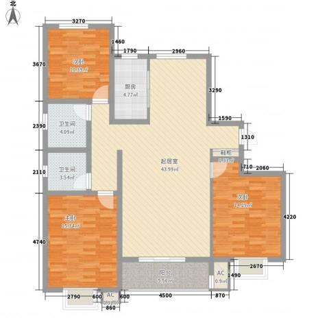 枫景华庭3室0厅2卫1厨145.00㎡户型图