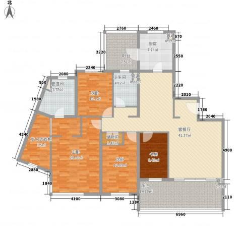 仁恒河滨城三期4室1厅2卫1厨209.00㎡户型图
