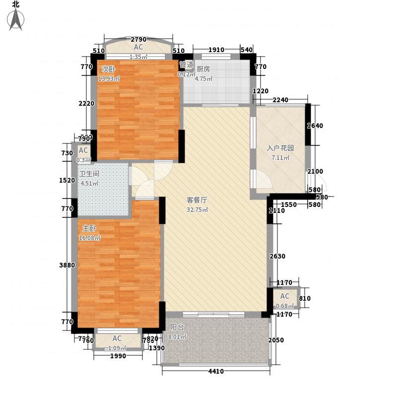 马德里风情3.40㎡15-16A户型2室2厅1卫1厨
