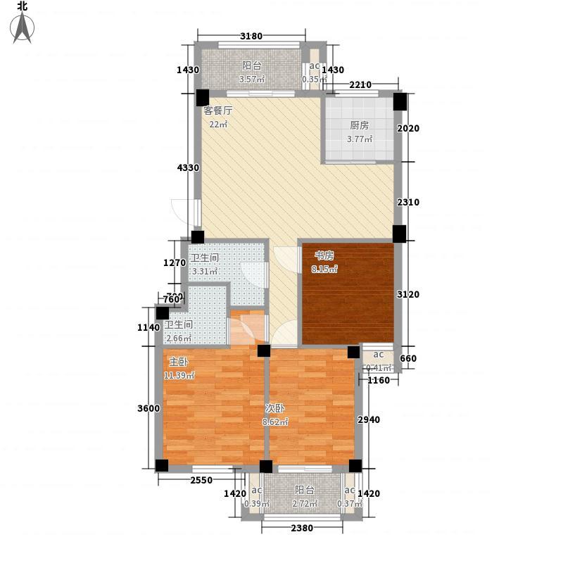江南水都意境97.00㎡江南水都意境户型图E2户型3室2厅2卫户型3室2厅2卫