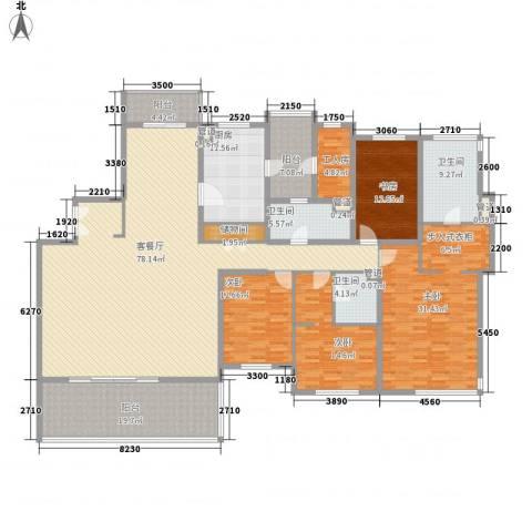 仁恒河滨城三期4室1厅3卫1厨306.00㎡户型图