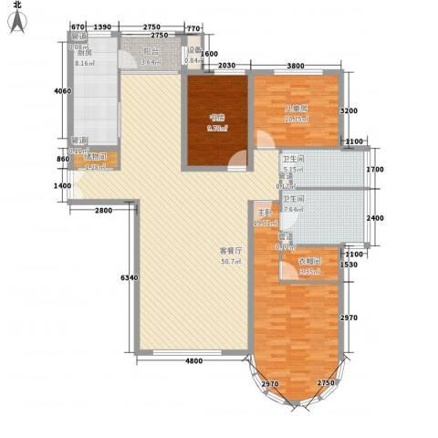 星景花园3室1厅2卫1厨171.00㎡户型图