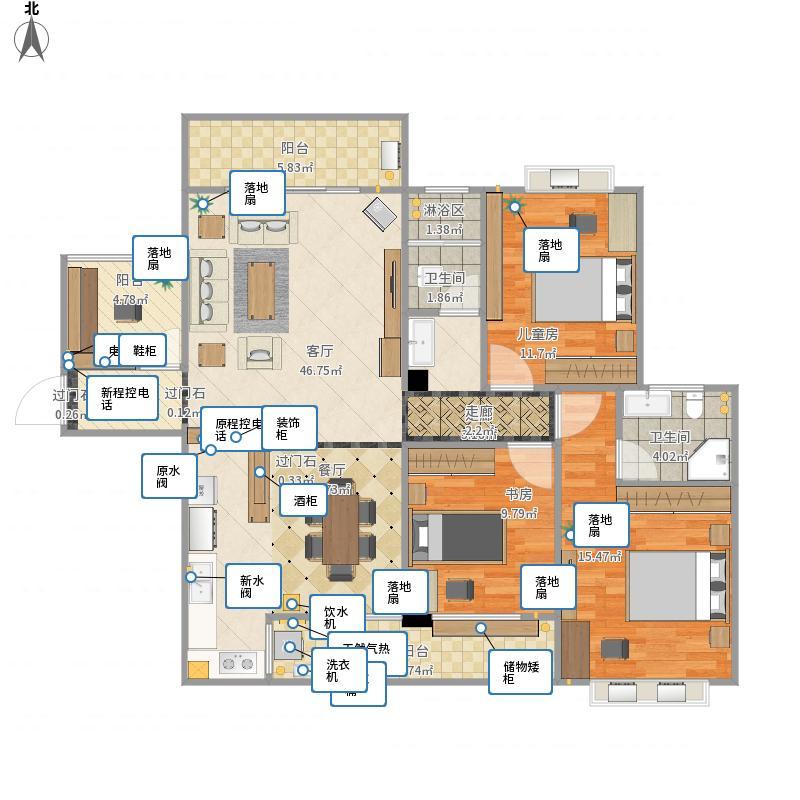 玫瑰湖恒祥豪苑29栋1201室-方案1