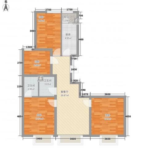 和畅园4室1厅2卫1厨108.00㎡户型图