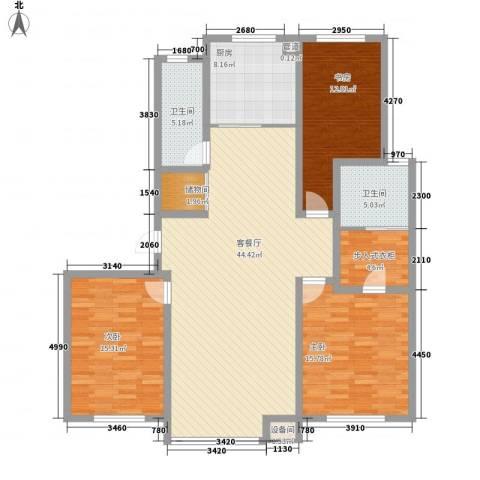 咖啡小镇3室1厅2卫1厨141.00㎡户型图