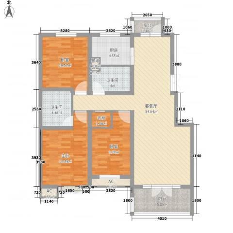 金隅时代城1室1厅2卫1厨131.00㎡户型图