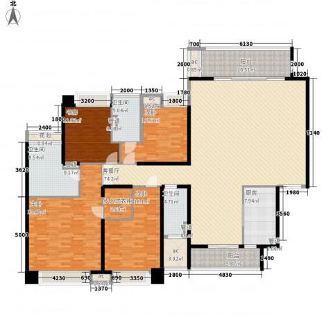 保利天玺4室1厅3卫1厨244.00㎡户型图