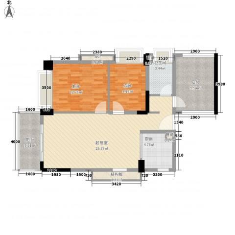 万科虹溪诺雅别墅2室0厅1卫1厨95.00㎡户型图