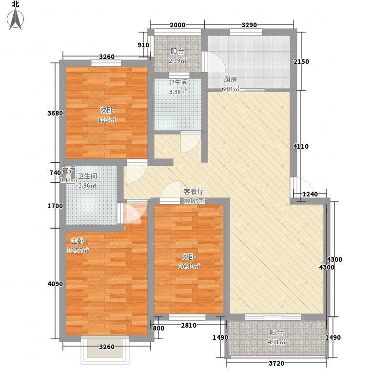 贤士花园125.00㎡户型3室