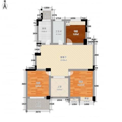 东方威尼斯3室1厅1卫1厨108.00㎡户型图