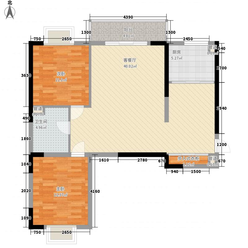 康桥国际112.95㎡A1户型2室2厅1卫1厨